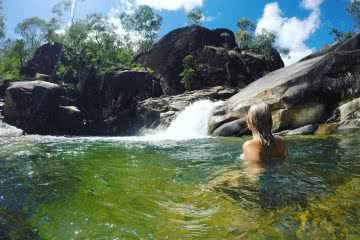 Waterfalls and Rockslides // Big Crystal Creek (QLD) Tiffany Hulm waterhole