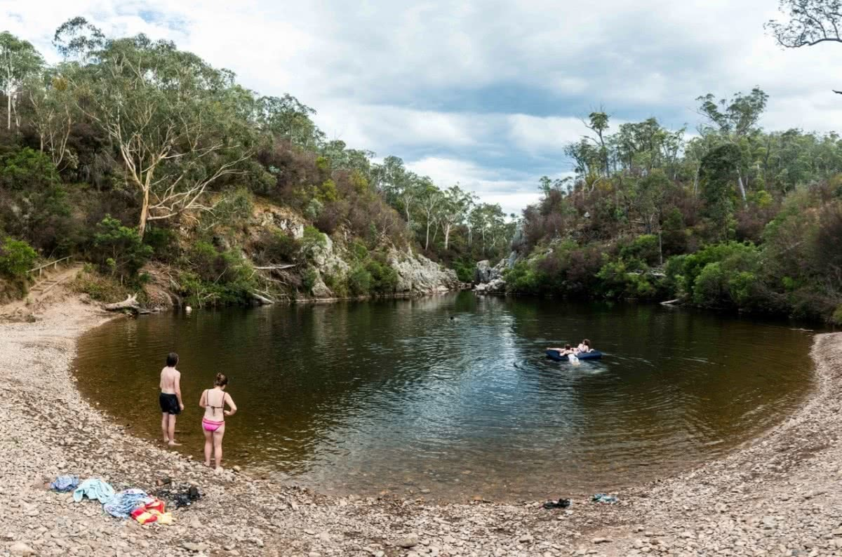 Blue Pools, Vic, Patrick Corden, wild swimming, waterhole, billabong