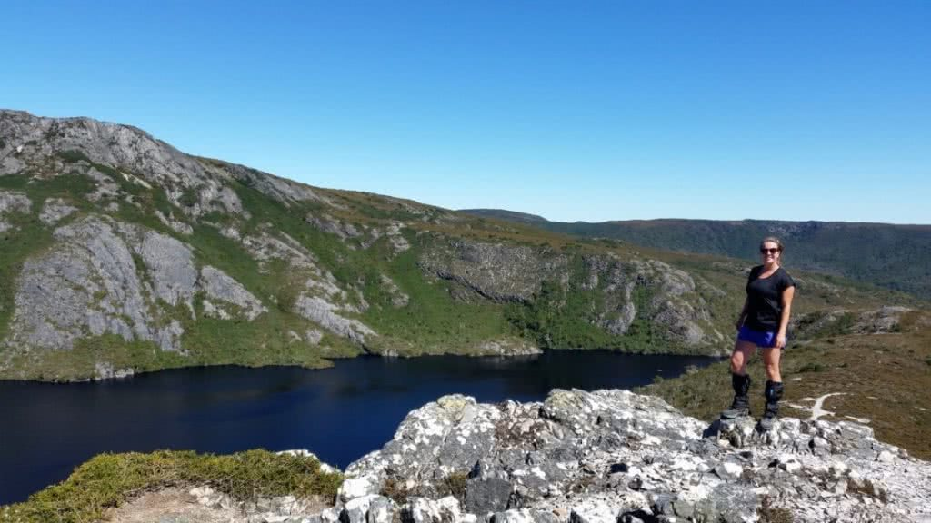 5 Things To Be Scared Of When Hiking In Australia (And How To Get Over The Fear) Brooke Nolan, Give In To Adventure, lake, gaiters, Overland Track, Tasmania