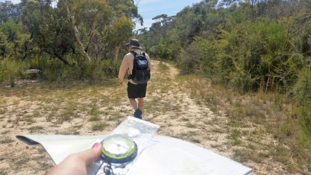 5 Things To Be Scared Of When Hiking In Australia (And How To Get Over The Fear) Brooke Nolan, Give In To Adventure, compass, walking, backpack