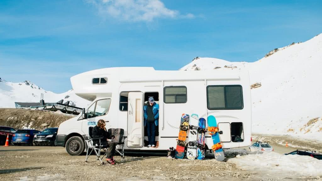 We're Not From Here // Short Snowboarding Film and Interview camper van, snowboards