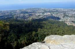 Wollongong (Corrimal) from the Brokers Nose Summit Traverse - Bushwalk the Gong