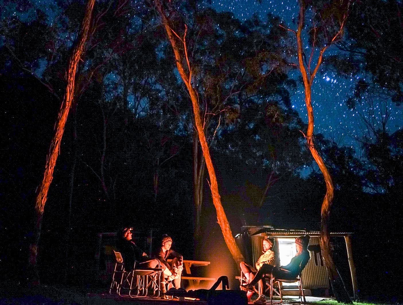 Green Gully Track, Oxley Wild Rivers National Park, NSW, multi-day hike, hut to hut, campsite, campfire, stars, night, astrophotography