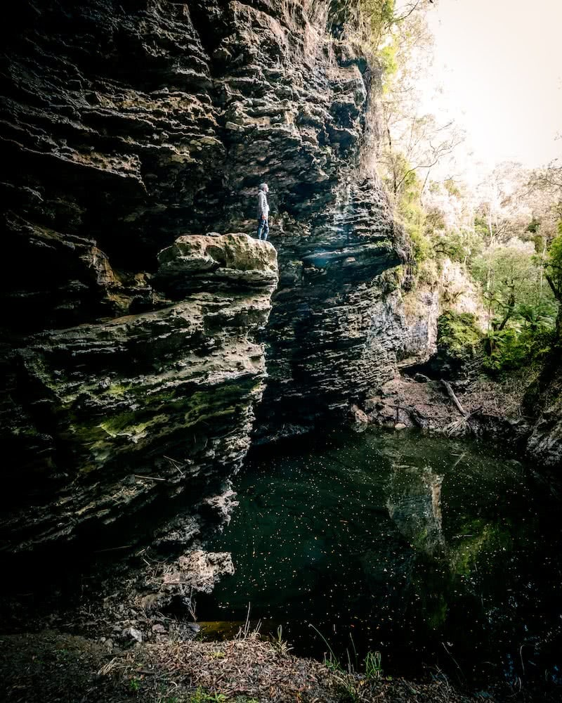Forest of Natural Greens // Trowutta Arch (TAS) Aidan Cunningham limestone cliff