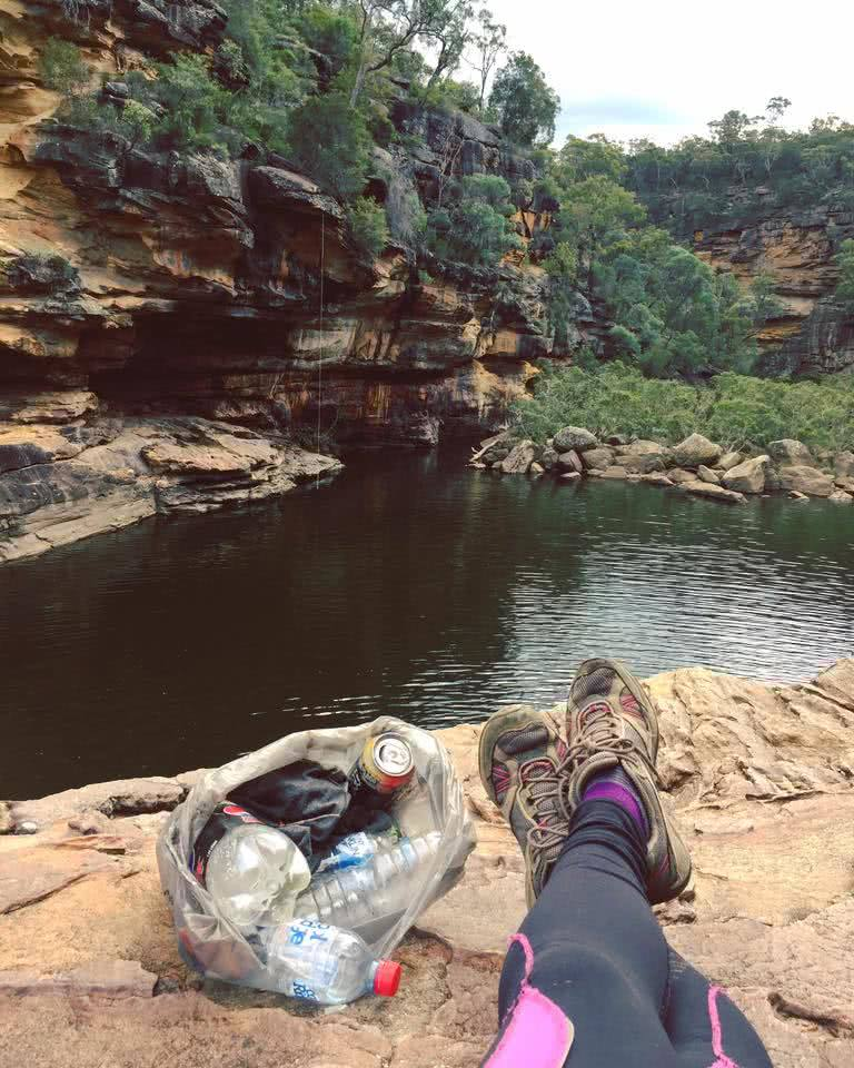 hike it out, heather porter, environment, rubbish bag, mermaid pools
