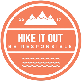 Hike it out, logo, heather porter