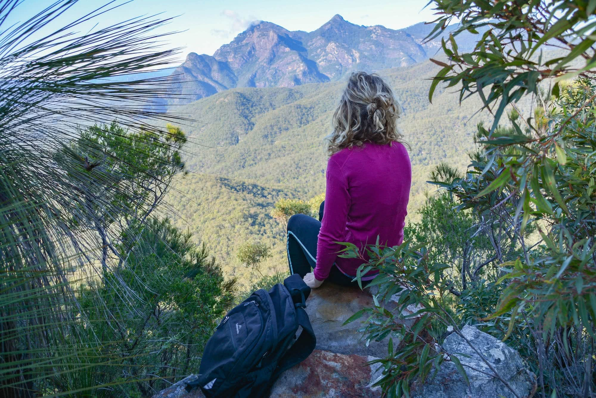 Double Trouble // Mt May and Upper Portals (QLD) Lisa Owen Mt May hiking queensland qld scenic rim mountain view hiker backpack