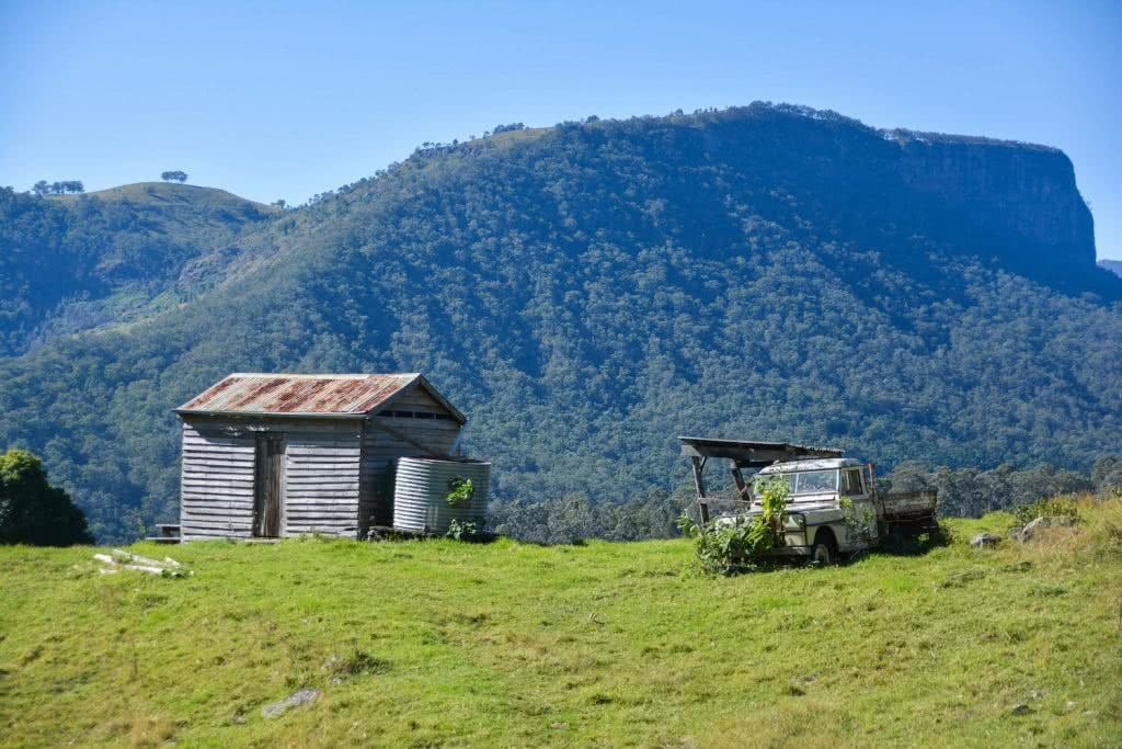 Lisa Owen Neglected Mountain Scenic Rim QLD ute hut mountain