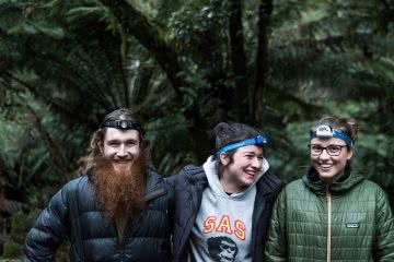 Pat Corden Tarra-Bulga National Park Victoria friends smiling head torches