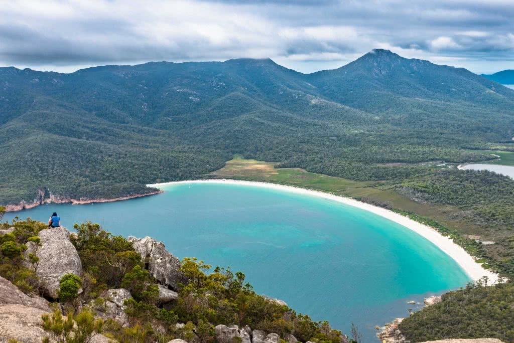Pat Corden Freycinet Peninsula Circuit Tasmania wineglass bay beach mountain