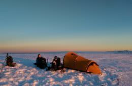 Xavier Anderson Watson's Crags Kosciuszko Mountain National Park snow rock climbing winter camping tent