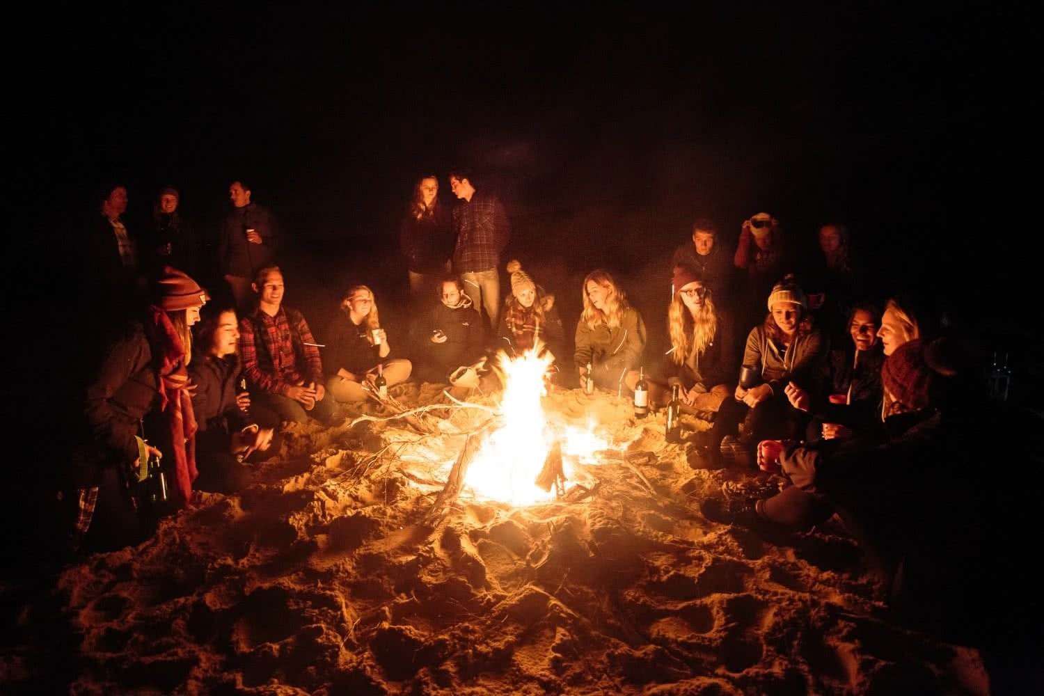 Liam Hardy campfire friends laughing