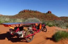 Sam Mitchell, Canning Stock Route, Outback, trailer