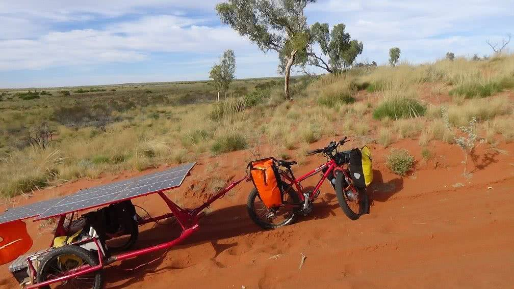 Sam Mitchell, Canning Stock Route, Outback, offset trailer, dune