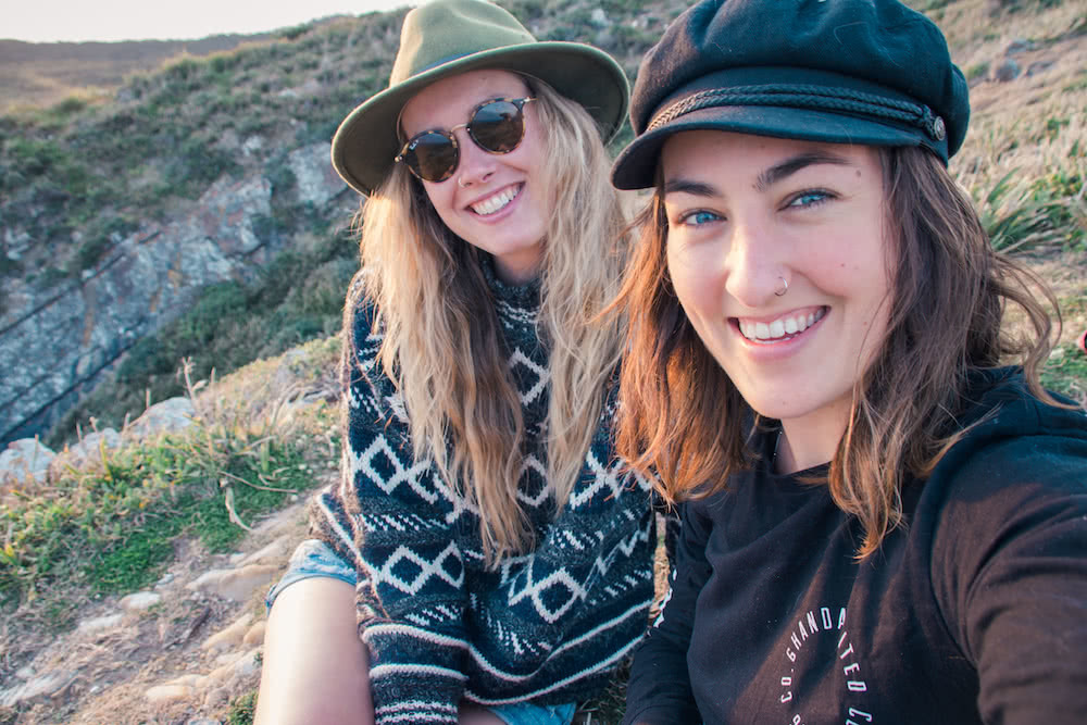Molly Jones wilderness escapes finding friends tribe camping beach smiling