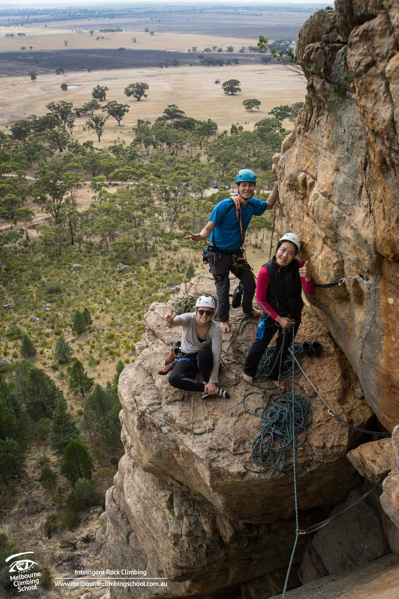 Aaron Lowndes rock melbourne climbing school introductory route