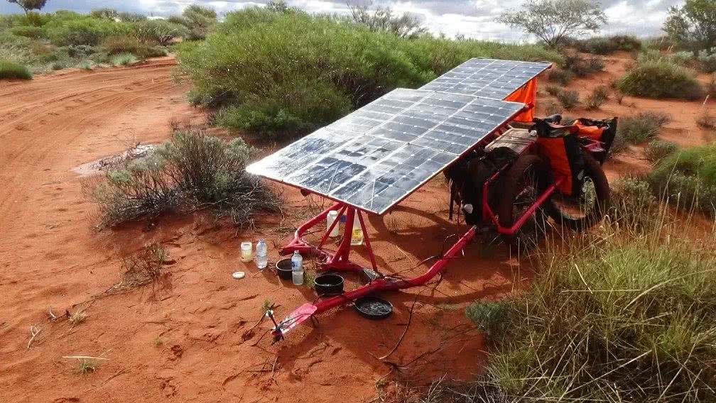 Sam Mitchell, Canning Stock Route, Outback, solar panels, rain