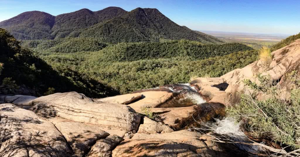 Dan Parkes, Alligator Creek Waterfall, Bowling Green Bay National Park, top of waterfall, view, lookout