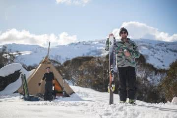 capital brewing co., samantha hawker, beer, backcountry, kosciuszko national park, skis, teepee