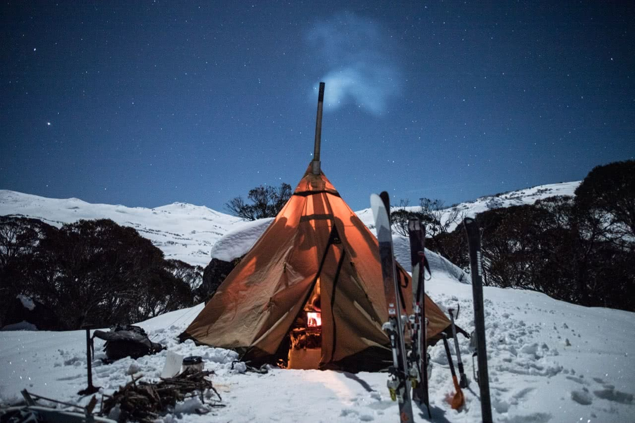 capital brewing co., samantha hawker, beer, backcountry, kosciuszko national park, teepee, night