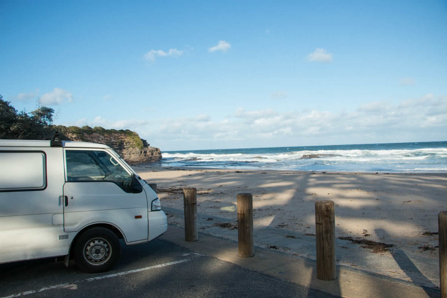 Austi Carpark Austi Carpark rock pools, van life meets real life, Keegan Taccori, waves, van, ocean