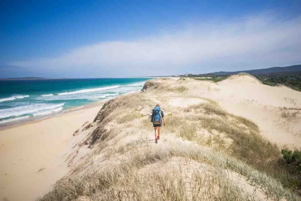 Coastal Wilderness Walk Nadgee Nature Reserve VIC NSW Lachie Thomas, hero, dunes, water, walker, hiker, ocean