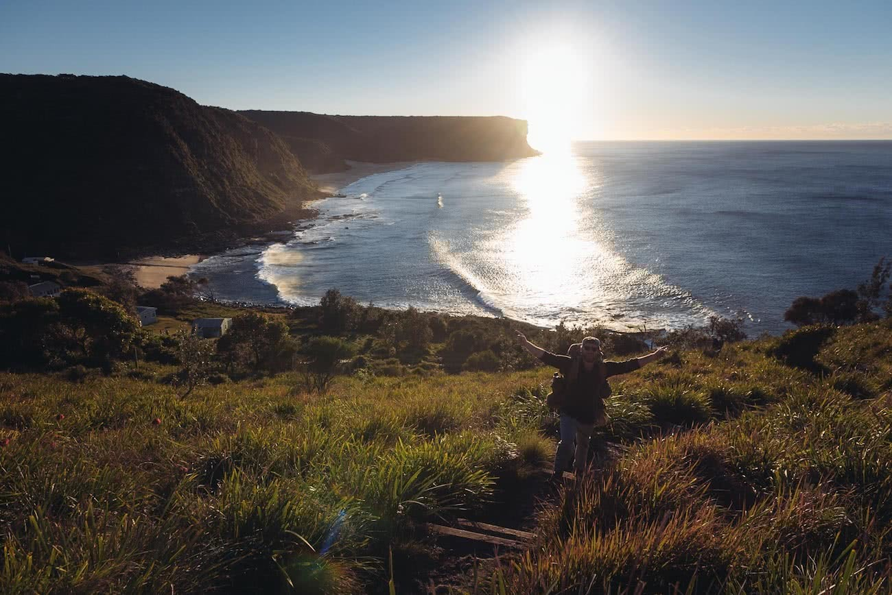 adrian mascenon, the coast track, royal national park, nsw, track, sunrise, bundeena to otford