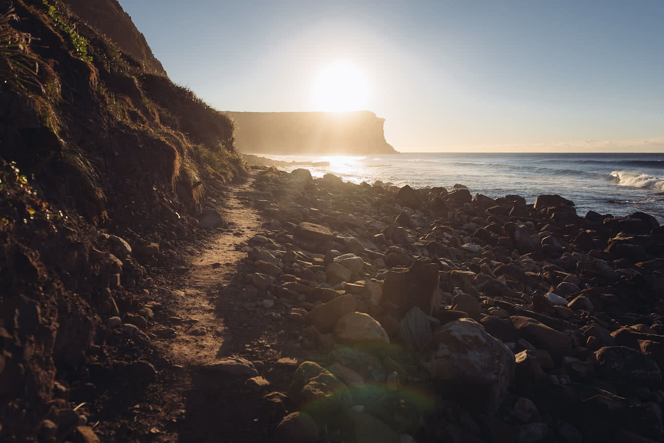 adrian mascenon, the coast track, royal national park, nsw, track, sunrise