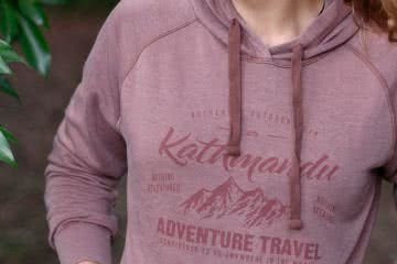 Earth Hoodie, Kathmandu, sponsored, rose red