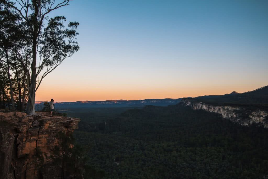 Carnarvon Gorge Queensland Jade Stephens, clifftop, sunset, horizon, view