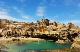 Scott Runacorn Summer Sweet Spot Mornington Peninsula Rockpool, rock jump, turquoise water