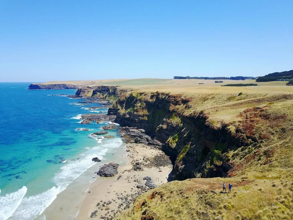 Scott Runacorn Summer Sweet Spot Mornington Peninsula Coast, cliffs, ocean, horizon