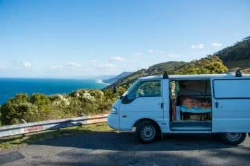 Otford Lookout, van life meets real life, Keegan Taccori, van, cliffs. ocean