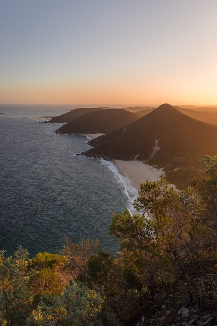 kate miles, tomaree summit, walk, sunset, coastline, coastal walks, nsw