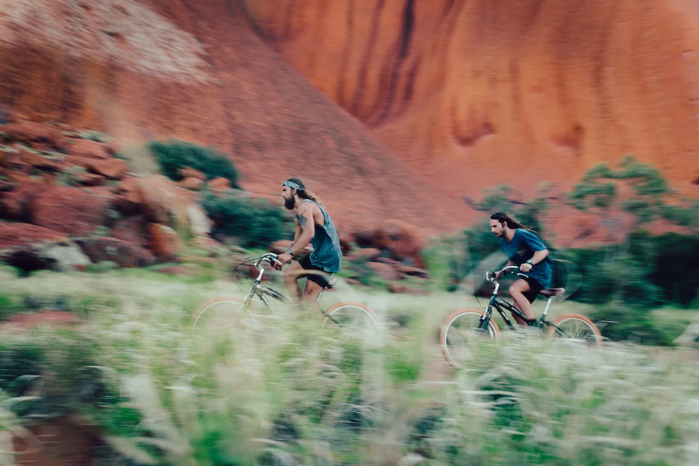 henry brydon bicycle uluru red centre road trip
