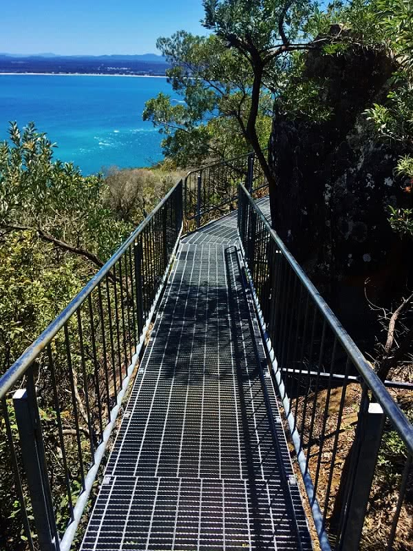 Tomaree Head Summit Walk Port Stephens (NSW), Natalie Hardbattle, walkway, ocean, trees
