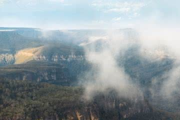 Tim Clark, view from Cooyoyo Campsite, the castle, budawangs, shoalhaven, nsw, view, lookout, mist, sunrise