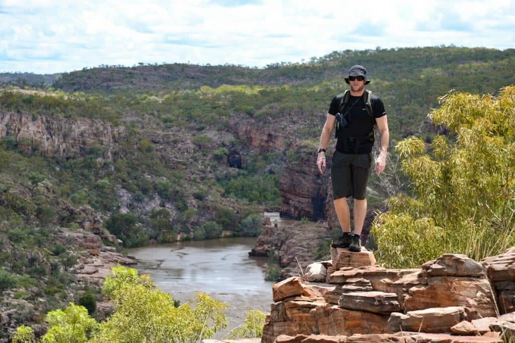 Stomping The Gorge // Nitmiluk National Park (NT) Dan Parkes, river, trees, lookout, rocks, man
