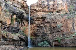 Stomping The Gorge // Nitmiluk National Park (NT) Dan Parkes, waterfall, bush, red rocks, trees, lily ponds, Katherine Gorge