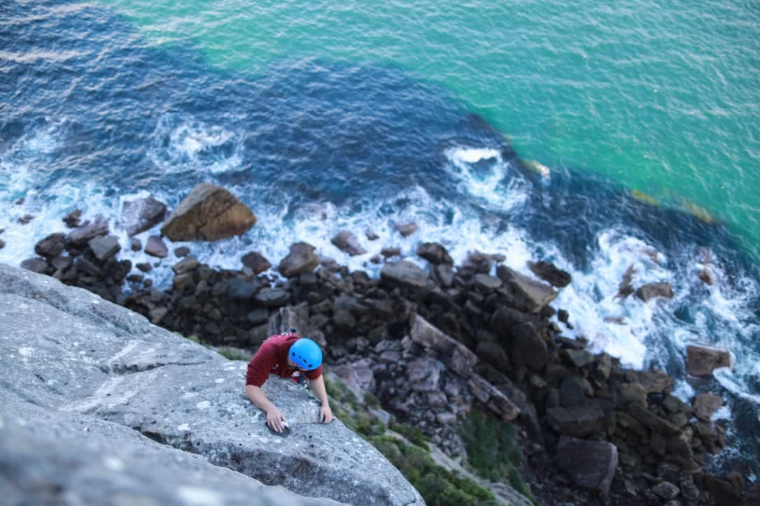greer knight, adventure sports, shoalhaven, nsw, climbing, point perpendicular, cliffs, sea, rock, hero