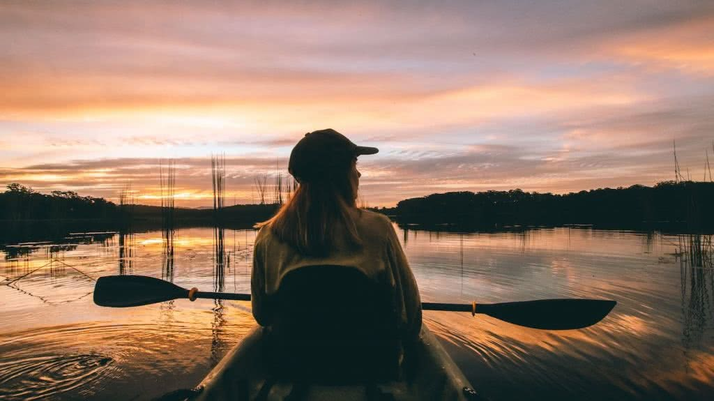 7 Killer Kayak Adventures On The Sunshine Coast (QLD), Scout Hinchliffe, EWEN MADDOCK DAM, woman, sunset, water