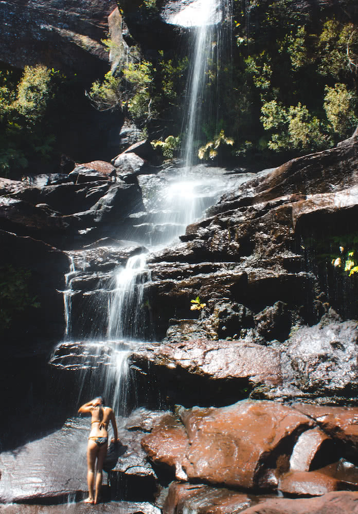 Jonathan Tan Madden Falls dharawal national park hidden campbelltown swimming hole wild swimming waterfall hero
