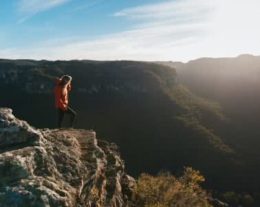 Adrian Mascenon, Mystery Mountain, Newnes, Wolgan Valley, Blue Mountains, NSW, climb, summit, sunrise