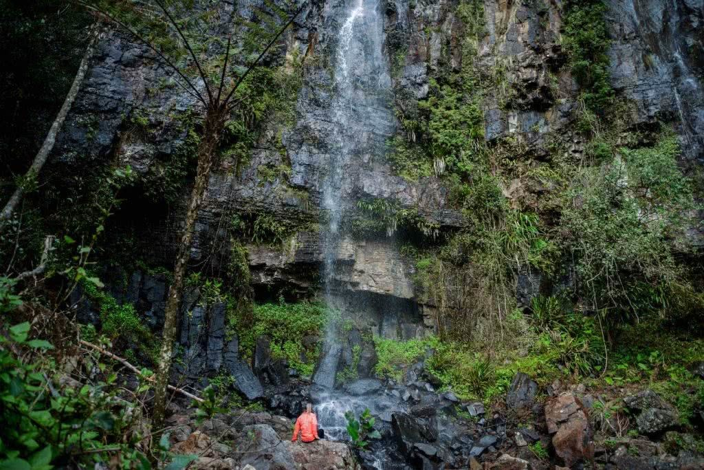 warrie circuit falls, best waterfall hikes near brisbane, queensland, lisa owen, microadventure, waterfall