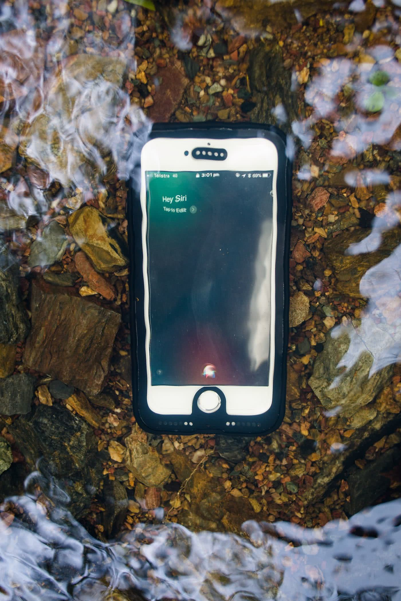 Pelican Marine Phone Case // Gear Review Dan Parkes, phone, case, water, rocks, siri