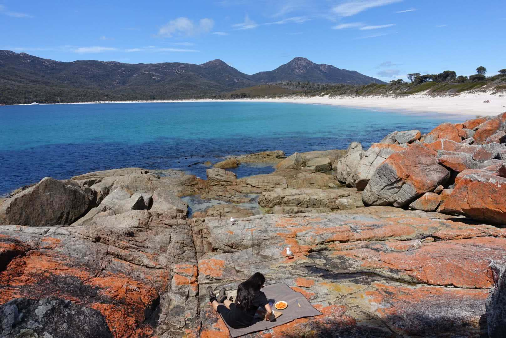 ben juzwin, excursion co, picnic, wineglass bay, freycinet national park, excursion_company