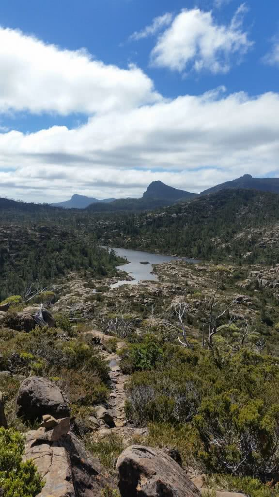 The Best Side Trip On The Overland Track? // Pine Valley Hut (TAS), Brooke Nolan, Labyrinth 2, river, rocks, boulders, mountains, horizon