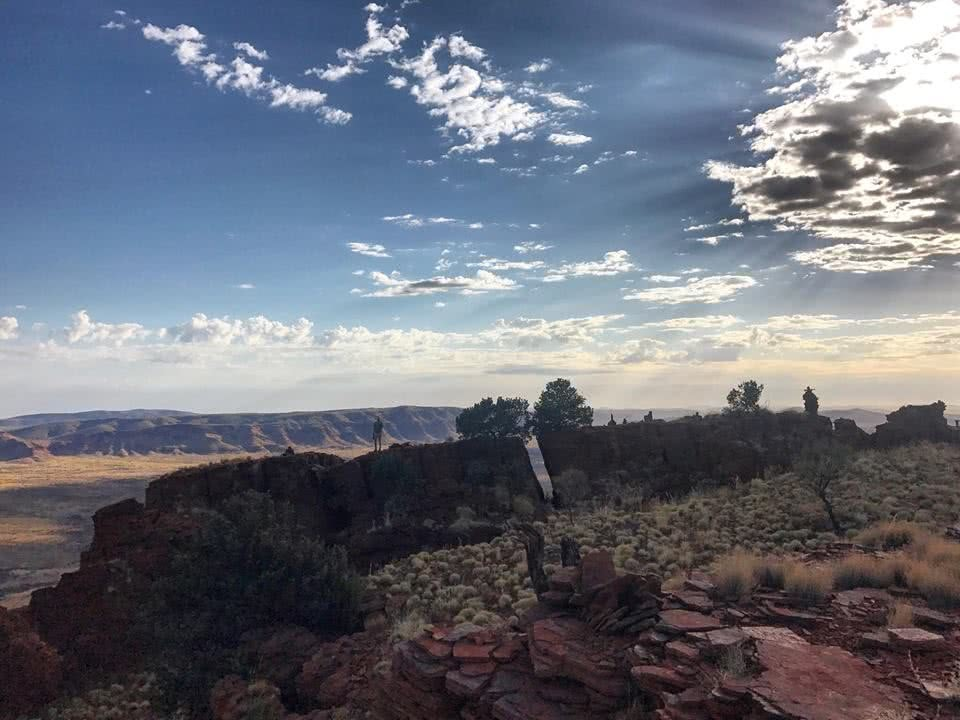Starting The Day The Right Way On Punurrunha (Mt Bruce) // Karijini NP (WA) Tiffany Hulm, mountain range, clouds