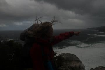 michaelaskovranova. south coast track, olympus, Tasmania, hiking, australian wilderness, wind, coast