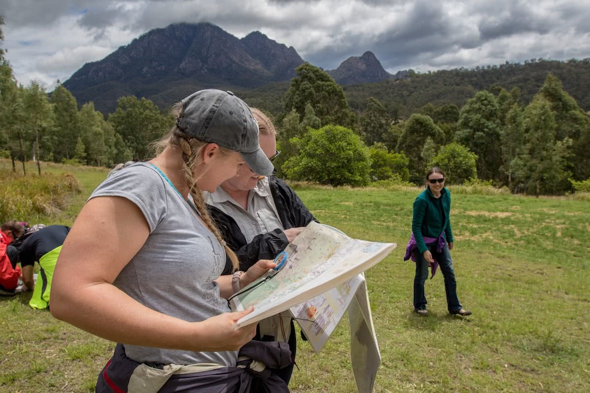 Jacquie Tapsall, hit the road jac, navigation course, wilderness escape, mt barney, south east, queensland, reading maps